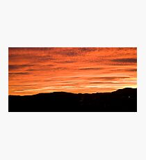 Sunset over suburb of Ljubljana Photographic Print