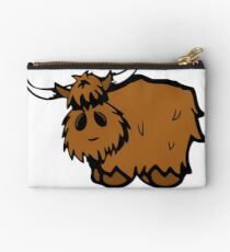 Heilan' Coo - with text Zipper Pouch