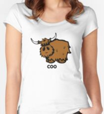 Heilan' Coo - with text Fitted Scoop T-Shirt