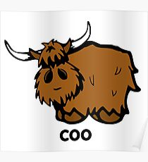 Heilan' Coo - with text Poster