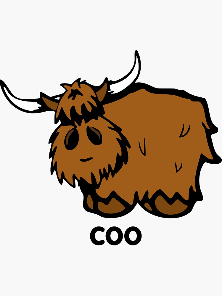 Heilan' Coo - with text by thingsinjars