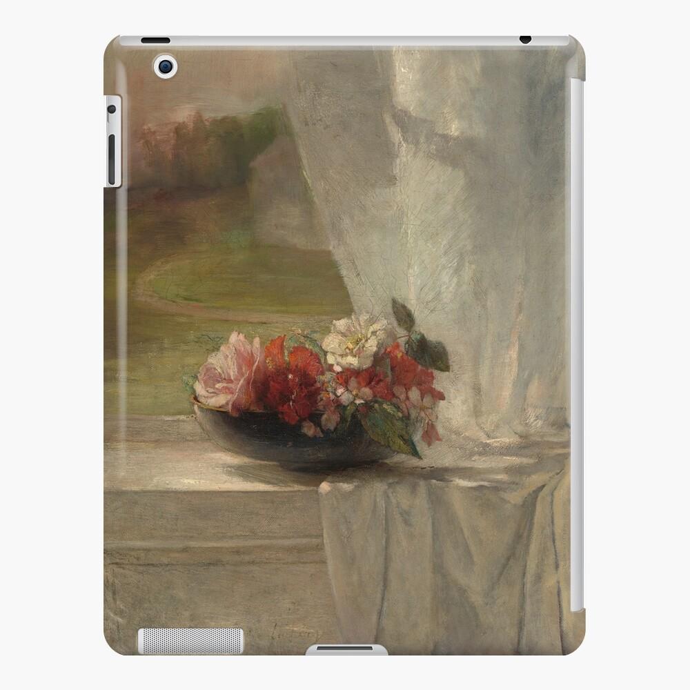 Flowers on a Window Ledge Oil Painting by John La Farge iPad Case & Skin