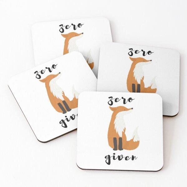 Zero Fox Given Funny Art Design Coasters (Set of 4)