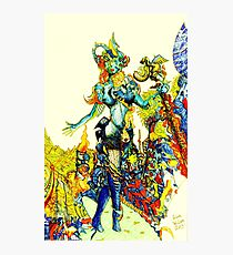 """""""Cyberian"""" Android Goddess MIX 2 Photographic Print"""