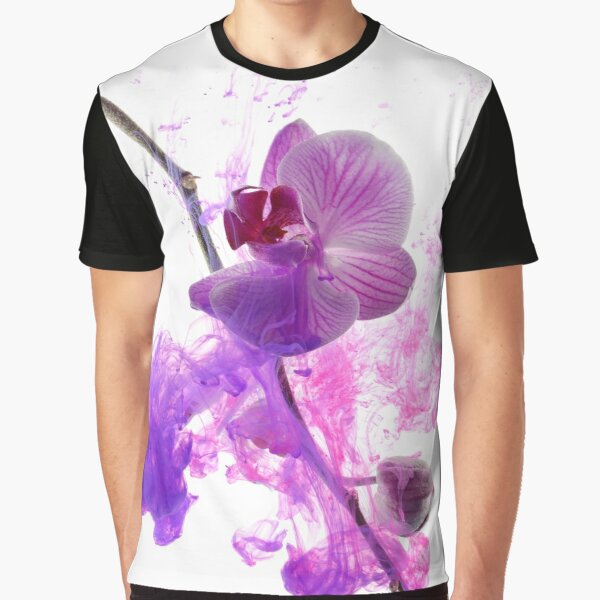 Abstract pink orchid Graphic T-Shirt