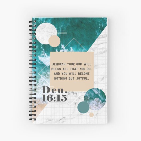 Deuteronomy 16:15 (Beach Marble Design) Spiral Notebook