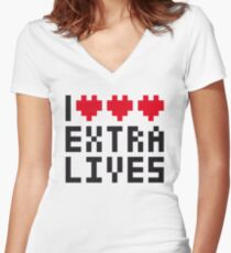Extra Lives Women's Fitted V-Neck T-Shirt