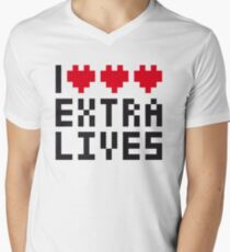 Extra Lives Men's V-Neck T-Shirt