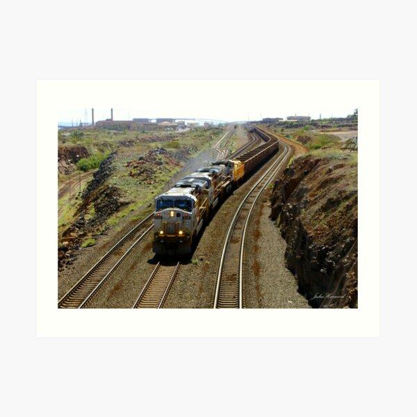 Ore Train, Western Australia Art Print