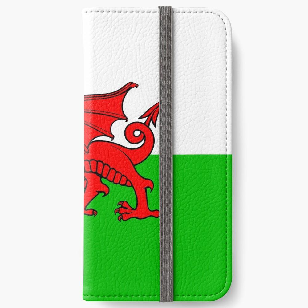 Wales-Flaggen-Waliser-Drache iPhone Flip-Case