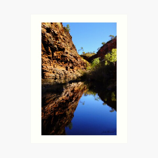 Hamersley Gorge, Karijini Art Print