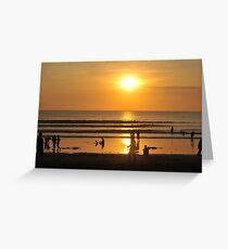 Kuta beach sunset Greeting Card