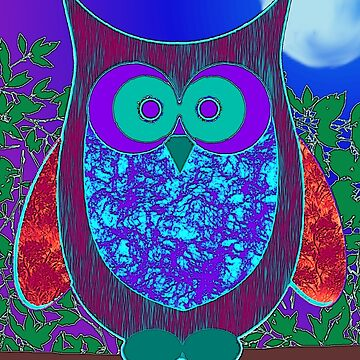 Groovy Moon Owl by Zeppy