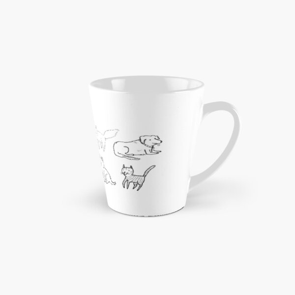 Cats and dogs hanging out Tall Mug