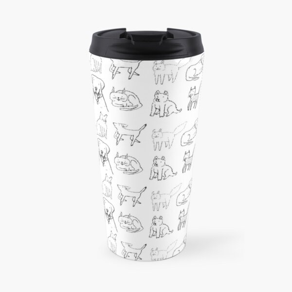 Cats and dogs hanging out Travel Mug