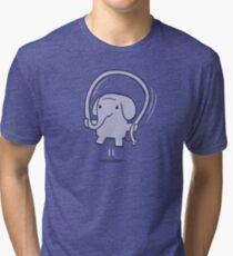 Skipping Elephant Tri-blend T-Shirt
