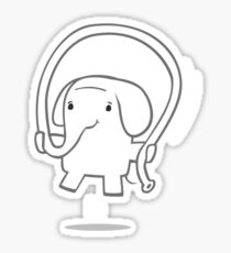 Skipping Elephant Sticker