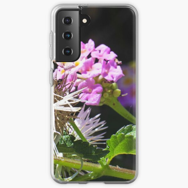 Blooms and black Samsung Galaxy Soft Case