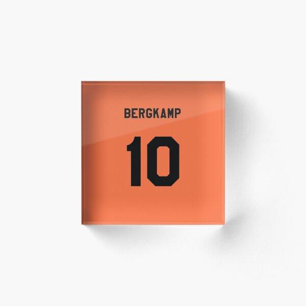 Bergkamp Number 10 Shirt Acrylic Block