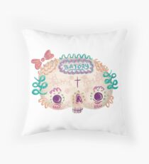Muertita Sugarskull Throw Pillow