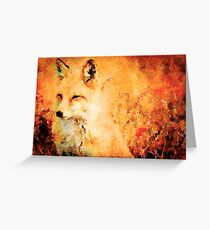 Orange Fox Greeting Card