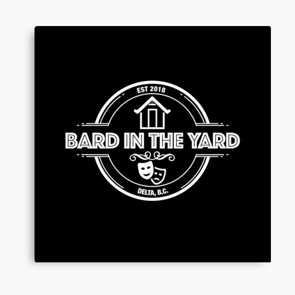 Bard in the Yard (Delta) White Logo Canvas Print