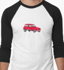 Renault 4 GTL Red Men's Baseball ¾ T-Shirt