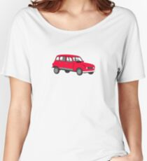 Renault 4 GTL Red Women's Relaxed Fit T-Shirt