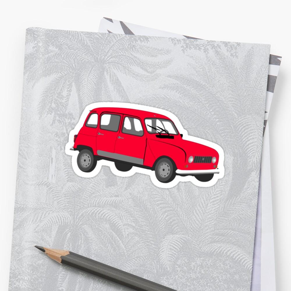 Renault 4 GTL Red by MangaKid