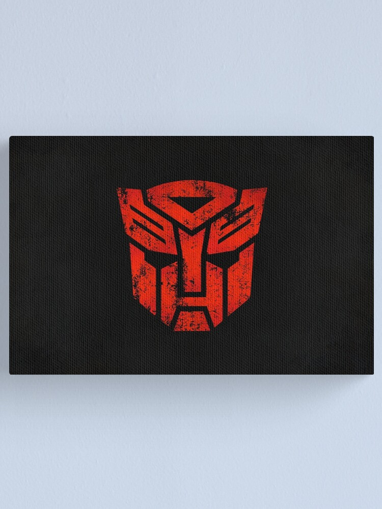Alternate view of Autobots Logo · Distressed Canvas Print