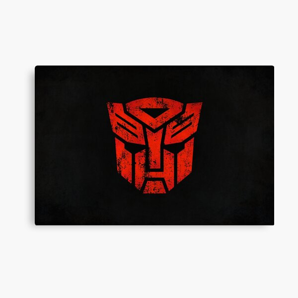 Autobots Logo · Distressed Canvas Print