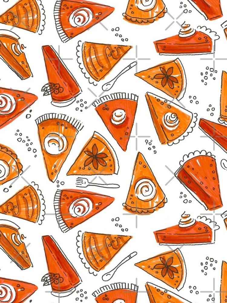 Watercolor Pumpkin Pie Pattern by annieparsons