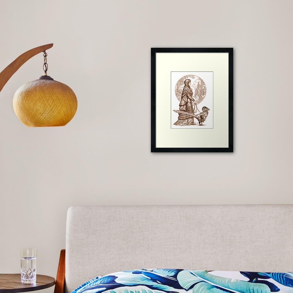 Joveta and Isambart Framed Art Print