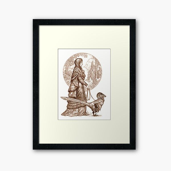 Joveta and Isambart Framed Art Print