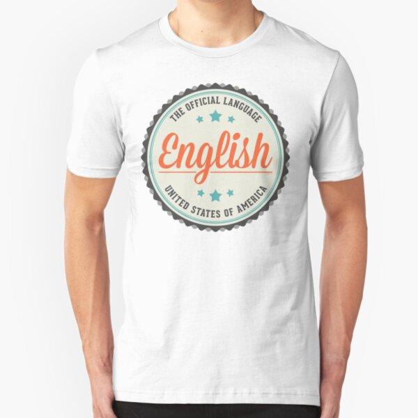 USA Official Language Slim Fit T-Shirt