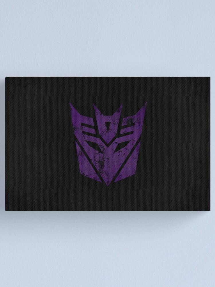 Alternate view of Decepticons Logo · Distressed Canvas Print