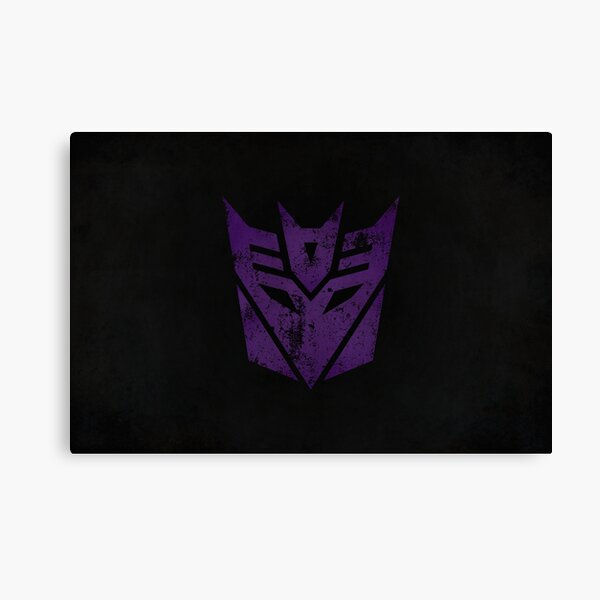 Decepticons Logo · Distressed Canvas Print