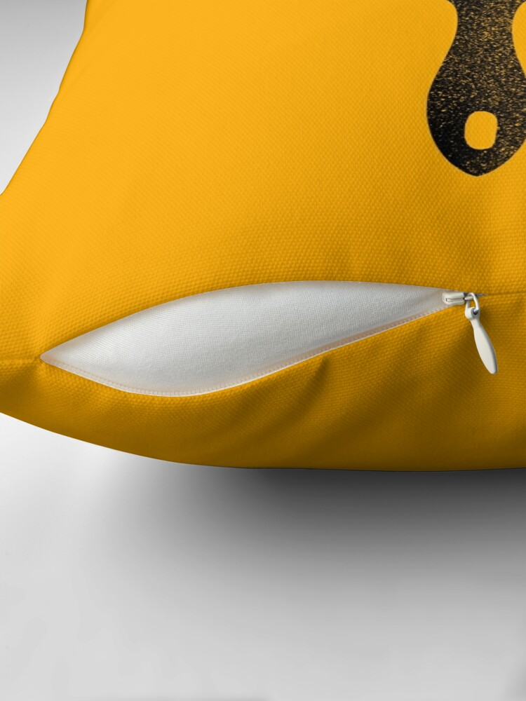 Alternate view of paintbrush Throw Pillow