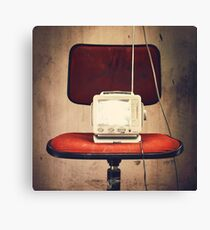 Vintage TV Canvas Print
