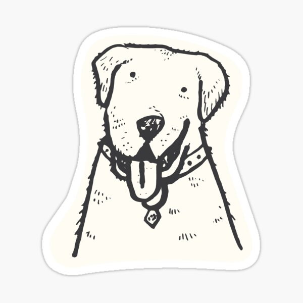 Best buddy dog Sticker