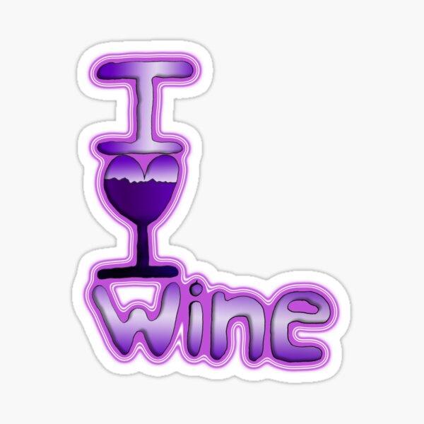 I Love Wine Sticker