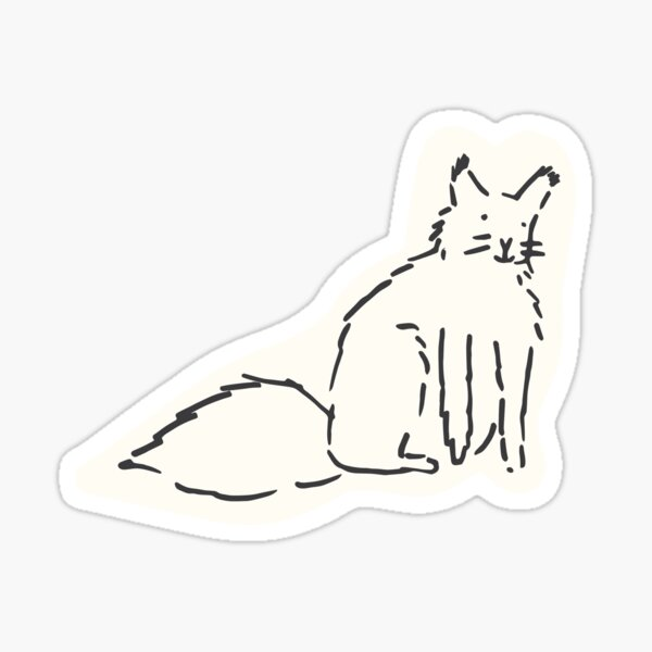 Friendly feline Sticker