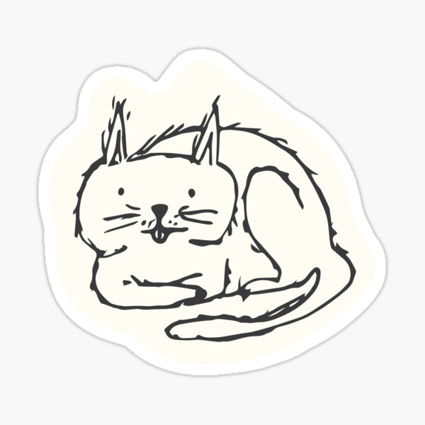 Bath Cat Sticker