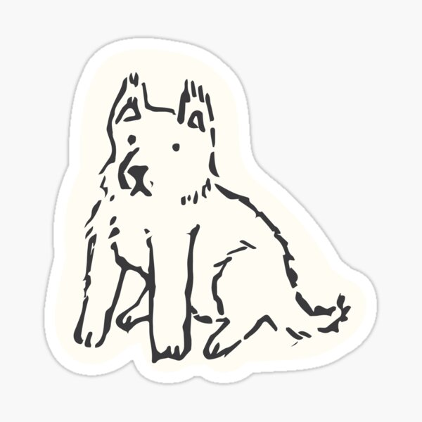 Scaredy-Pup Sticker
