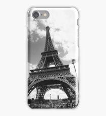 Black eiffel tower iPhone Case/Skin