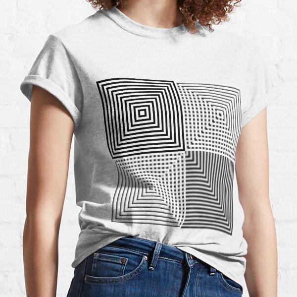 #Abstract, #square, #puzzle, #illustration, shape, art, horizontal, gray Classic T-Shirt