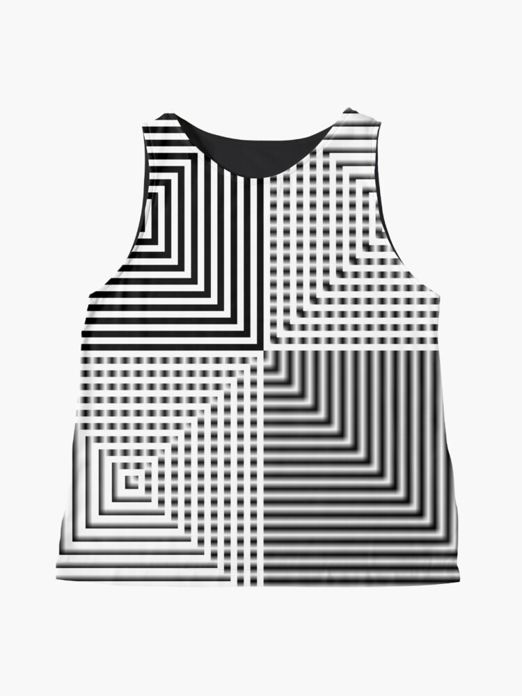 Alternate view of #Abstract, #square, #puzzle, #illustration, shape, art, horizontal, gray Sleeveless Top