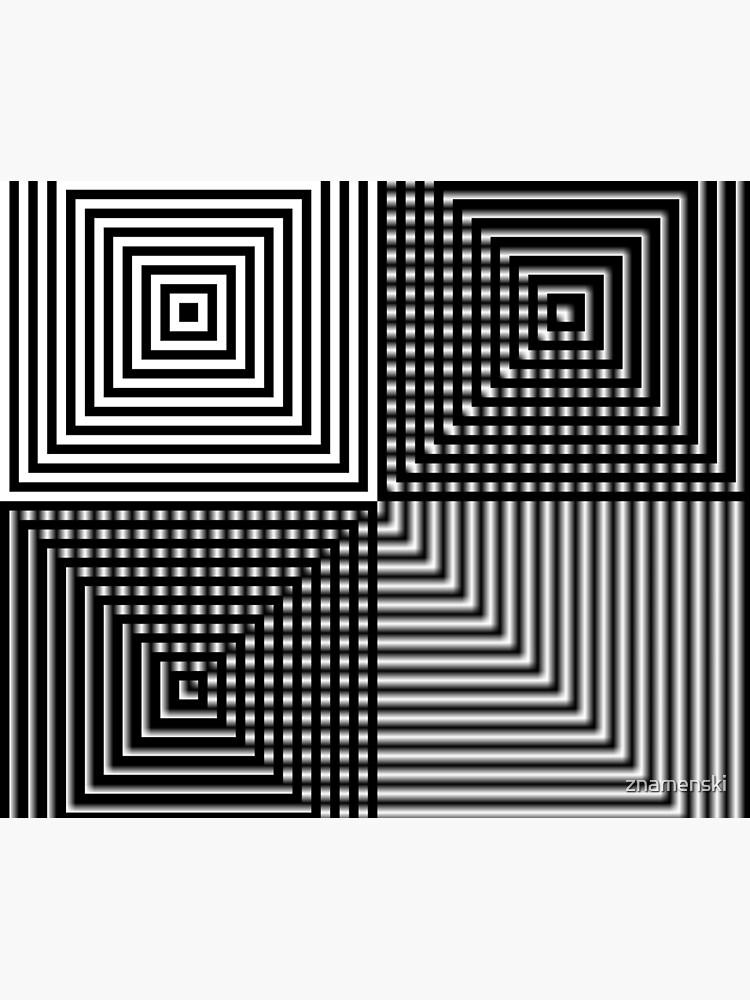 #Illusion, #abstract, #square, #puzzle, illustration, shape, art, horizontal by znamenski