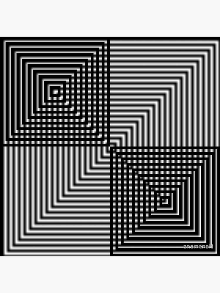 #Pattern, #design, #square, #abstract, illustration, illusion, grid, technology by znamenski