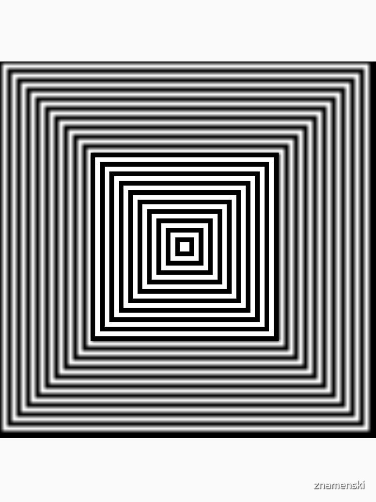 1 point perspective illusion, #Design, #illusion, #abstract, #square, puzzle, illustration, shape, art by znamenski